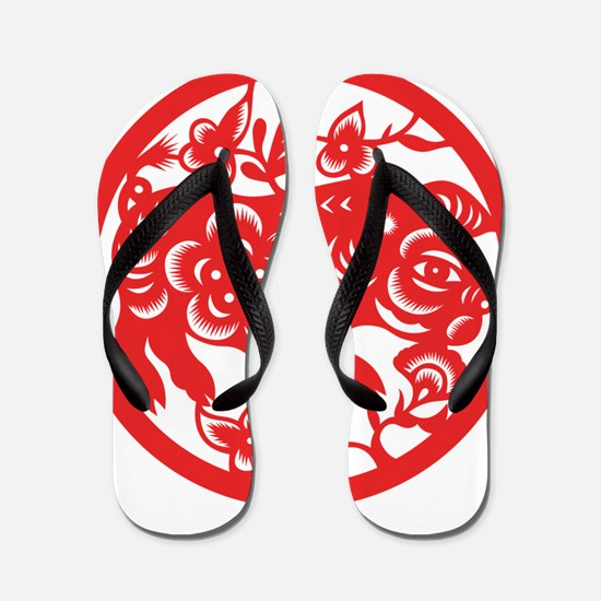 Zodiac, Year of the Pig Flip Flops