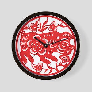 Zodiac, Year of the Pig Wall Clock