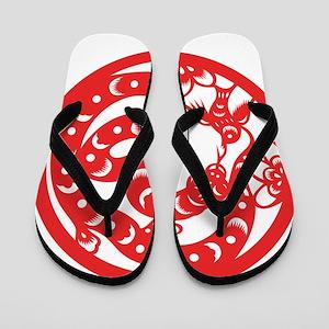 Zodiac, Year of the Snake Flip Flops