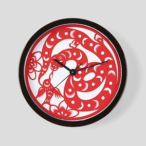 Zodiac, Year of the Snake Wall Clock