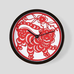 Zodiac, Year of the Tiger Wall Clock