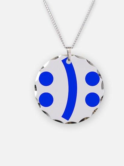 BIPOLAR-SMILEY-fut-blue Necklace