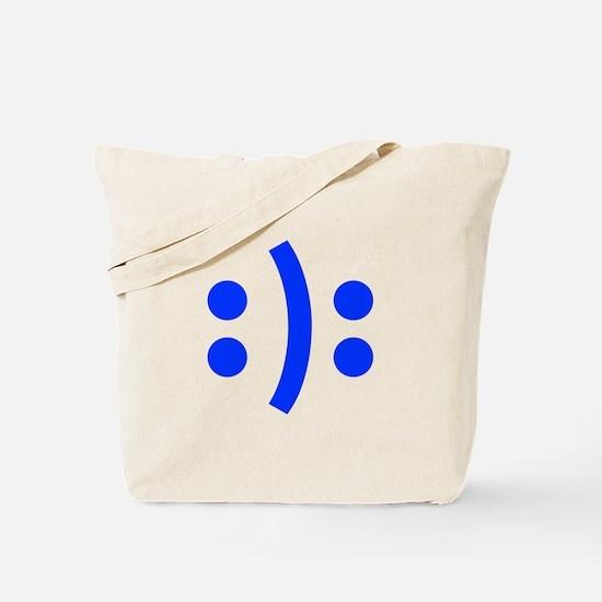 BIPOLAR-SMILEY-fut-blue Tote Bag