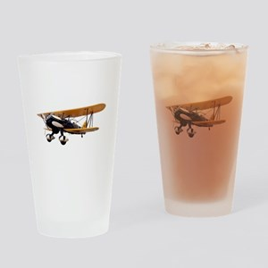 P-6 Hawk Biplane Aircraft Drinking Glass