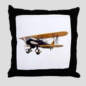 P-6 Hawk Biplane Aircraft Throw Pillow