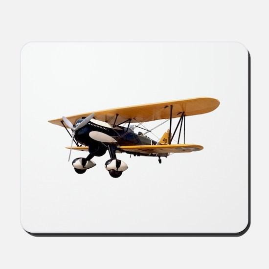 P-6 Hawk Biplane Aircraft Mousepad