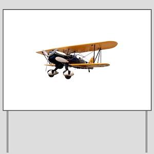 P-6 Hawk Biplane Aircraft Yard Sign