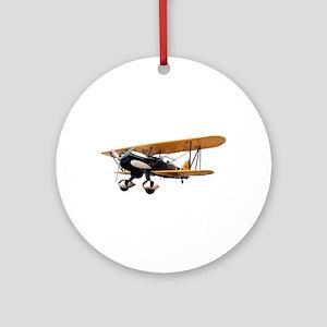 P-6 Hawk Biplane Aircraft Ornament (Round)