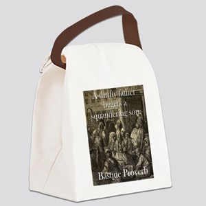 A Thrifty Father - Basque Proverb Canvas Lunch Bag
