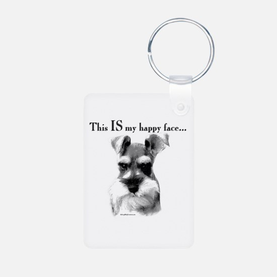 Schnauzer Happy Face Keychains