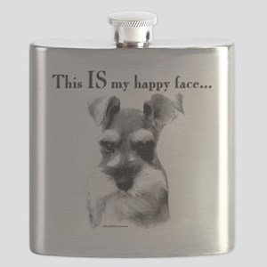 Schnauzer Happy Face Flask