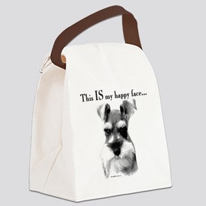 Schnauzer Happy Face Canvas Lunch Bag