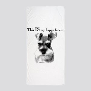 Schnauzer Happy Face Beach Towel