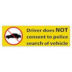 No Consent Bumper Sticker