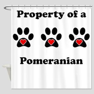 Property Of A Pomeranian Shower Curtain