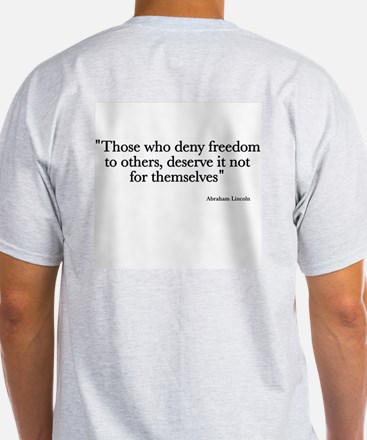 Lincoln Quote Ash Grey T-Shirt