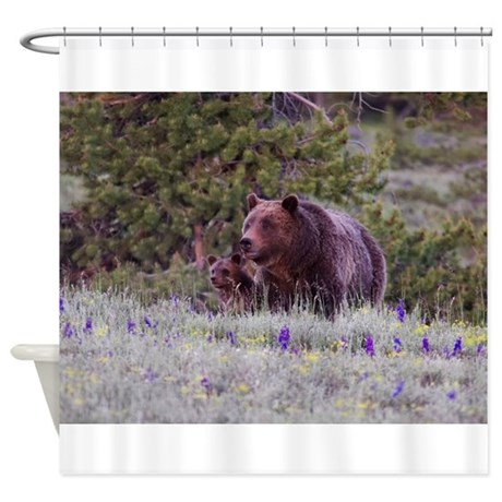 GRIZZLY BEAR 399 & CUBS Shower Curtain