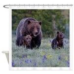 GRIZZLY BEAR 399 & CUBS Shower Curtain# 2