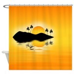 Tropical Island Shower Curtain