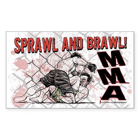 MMA Sprawl & Brawl Rectangle Sticker