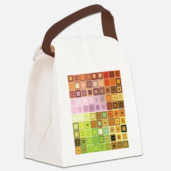 Art, Colorful, Vintage Canvas Lunch Bag
