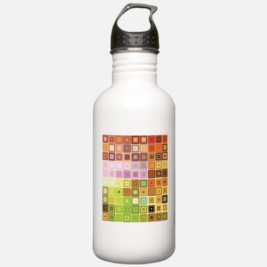 Art, Colorful, Vintage Water Bottle