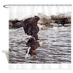 FIGHTING EAGLES Shower Curtain