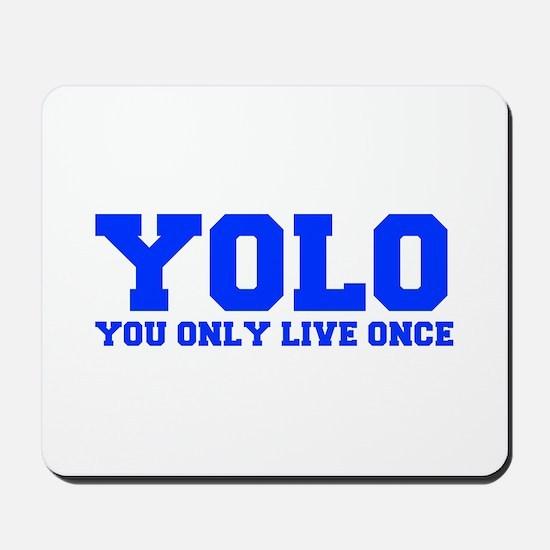YOLO-FRESH-BLUE Mousepad