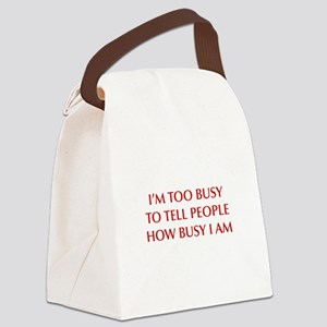 IM-TOO-BUSY-OPT-DARK-RED Canvas Lunch Bag