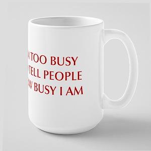 IM-TOO-BUSY-OPT-DARK-RED Mugs