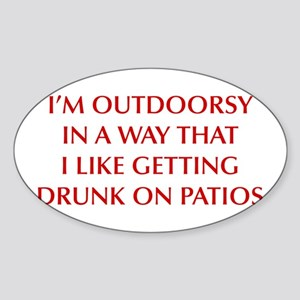 IM-OUTDOORSY-OPT-DARK-RED Sticker