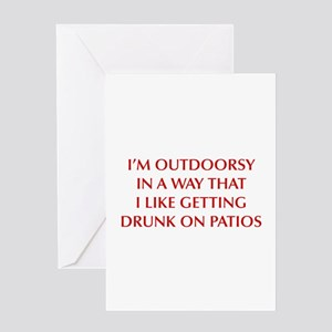 IM-OUTDOORSY-OPT-DARK-RED Greeting Cards