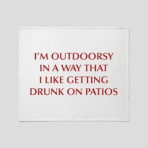 IM-OUTDOORSY-OPT-DARK-RED Throw Blanket