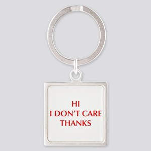 HI-I-DONT-CARE-OPT-RED Keychains