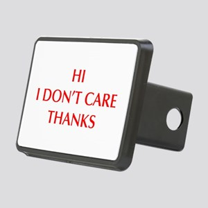 HI-I-DONT-CARE-OPT-RED Hitch Cover