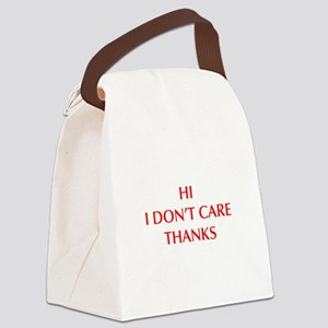 HI-I-DONT-CARE-OPT-RED Canvas Lunch Bag