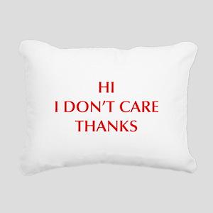 HI-I-DONT-CARE-OPT-RED Rectangular Canvas Pillow