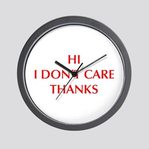 HI-I-DONT-CARE-OPT-RED Wall Clock