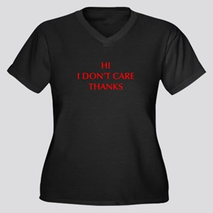 HI-I-DONT-CARE-OPT-RED Plus Size T-Shirt