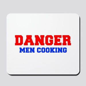 DANGER-MEN-COOKING-FRESH-RED-BLUE Mousepad