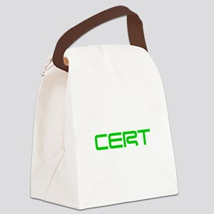 CERT-SAVED-GREEN Canvas Lunch Bag