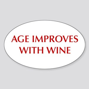AGE-IMPROVES-OPT-DARK-RED Sticker