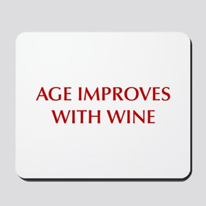 AGE-IMPROVES-OPT-DARK-RED Mousepad