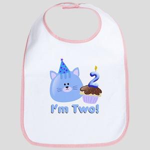 2nd Birthday Kitten Bib