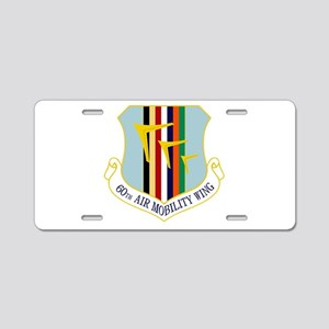 60th AMW Aluminum License Plate