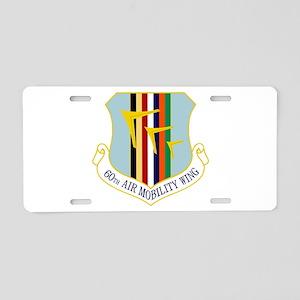 60th AMW Aluminum License Plate