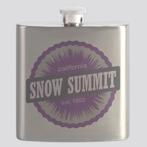 Snow Summit Ski Resort California Purple Flask