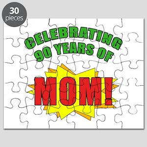 Celebrating Mom's 90th Birthday Puzzle
