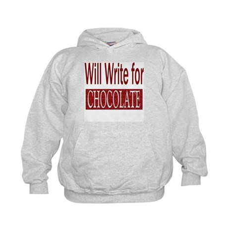 Will Write for Chocolate Kids Hoodie