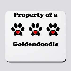 Property Of A Goldendoodle Mousepad